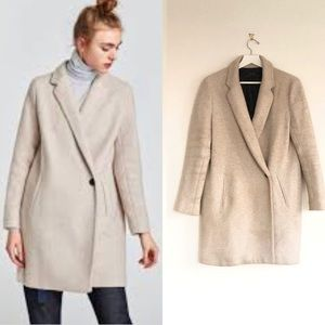 ZARA SS 2018 SOFT-FEEL DOUBLE-BREASTED COAT